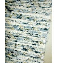 Bolyhos rongyszőnyeg kék, nyers, fekete, sárga 75 x 100 cm