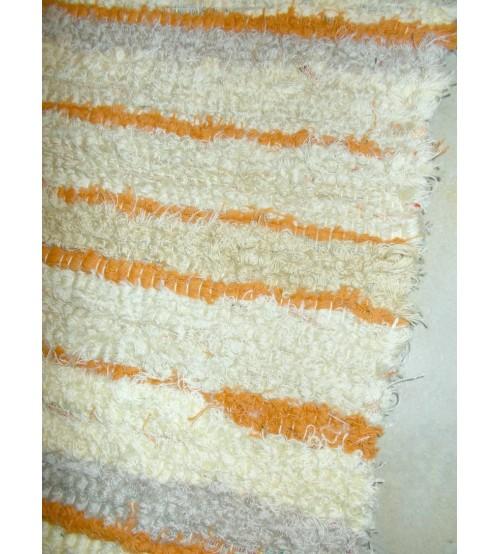 Bolyhos rongyszőnyeg barna, sárga, nyers, szürke 75 x 100 cm