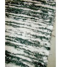 Bolyhos rongyszőnyeg barna, fehér 75 x 150 cm