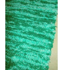 Bolyhos rongyszőnyeg zöld 75 x 200 cm