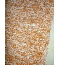 Bolyhos rongyszőnyeg barna, nyers 75 x 150 cm