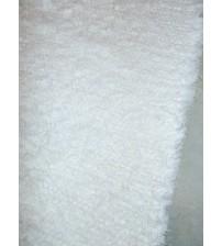 Bolyhos rongyszőnyeg fehér 75 x 290 cm
