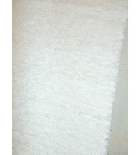 Bolyhos rongyszőnyeg fehér 75 x 150 cm