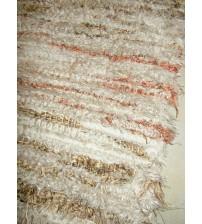 Bolyhos rongyszőnyeg barna, nyers 75 x 155 cm