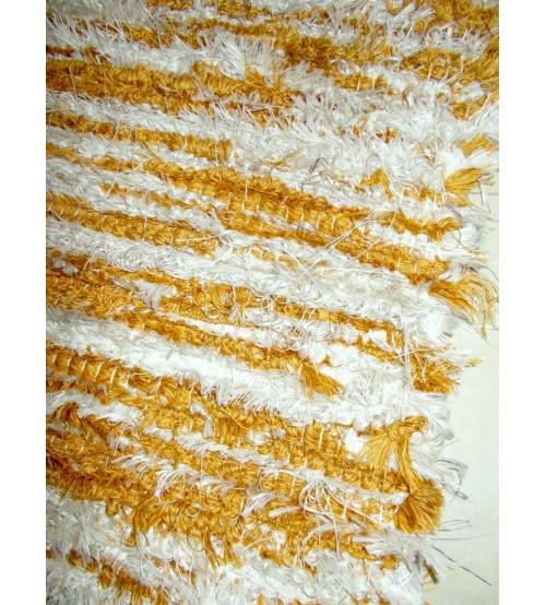 Bolyhos rongyszőnyeg barna, szürke 75 x 195 cm