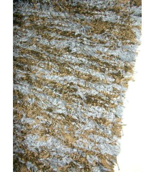 Bolyhos rongyszőnyeg szürke, barna 75 x 210 cm