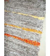 Bolyhos rongyszőnyeg szürke, sárga 75 x 150 cm