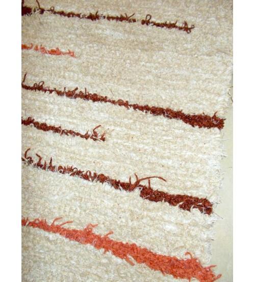 Bolyhos rongyszőnyeg barna 75 x 150 cm