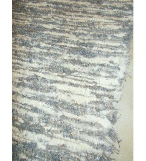 Bolyhos rongyszőnyeg szürke, barna, nyers 80 x 110 cm