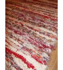 Bolyhos rongyszőnyeg sárga, piros 75 x 115 cm