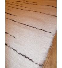 Bolyhos rongyszőnyeg fehér, szürke 85 x 175 cm
