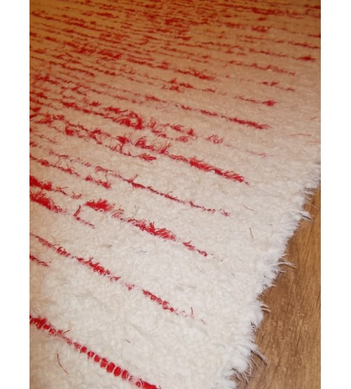 Bolyhos rongyszőnyeg nyers, piros 75 x 160 cm