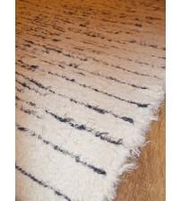 Bolyhos rongyszőnyeg nyers, szürke 75 x 145 cm