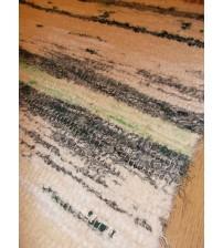 Bolyhos rongyszőnyeg nyers, zöld 75 x 100 cm