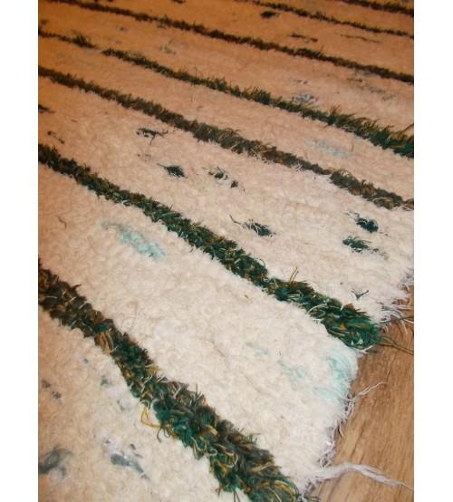 Bolyhos rongyszőnyeg nyers, zöld 75 x 200 cm