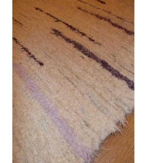 Bolyhos rongyszőnyeg nyers, lila 75 x 150 cm