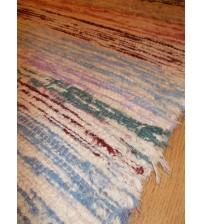 Bolyhos rongyszőnyeg színes 75 x 150 cm