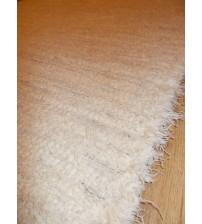 Bolyhos rongyszőnyeg nyers, szürke 75 x 100 cm