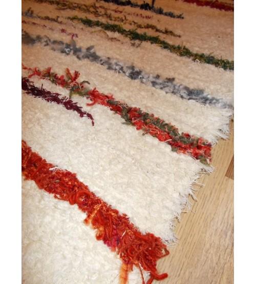 Bolyhos rongyszőnyeg nyers, színes 70 x 200 cm