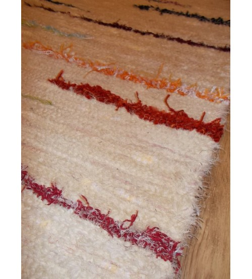 Bolyhos rongyszőnyeg nyers, színes 70 x 170 cm