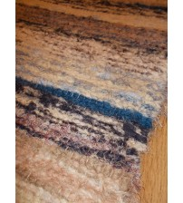 Bolyhos rongyszőnyeg nyers, kék, barna 80 x 150 cm