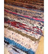 Bolyhos rongyszőnyeg színes 80 x 150 cm