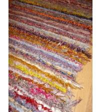 Bolyhos rongyszőnyeg színes 60 x 205 cm