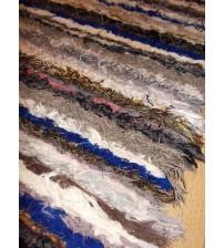 Bolyhos rongyszőnyeg színes 55 x 205 cm
