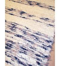 Bolyhos rongyszőnyeg nyers, kék, piros 75 x 100 cm