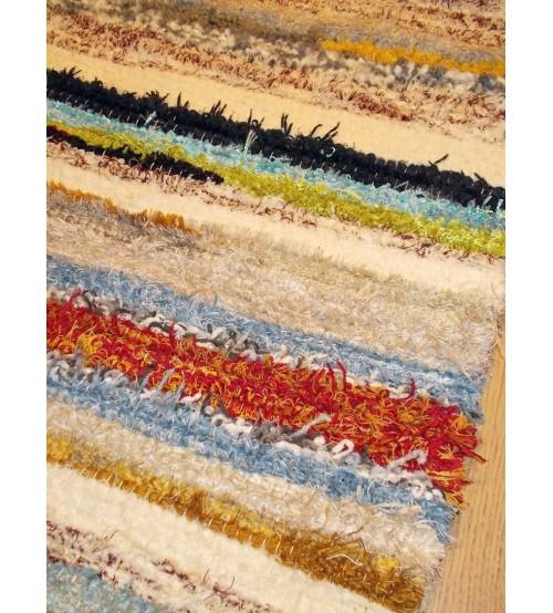 Bolyhos rongyszőnyeg színes 75 x 100 cm