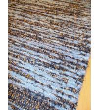 Bolyhos rongyszőnyeg kék, sárga 75 x 150 cm