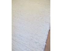 2 db bolyhos rongyszőnyeg fehér 75 x 200 cm