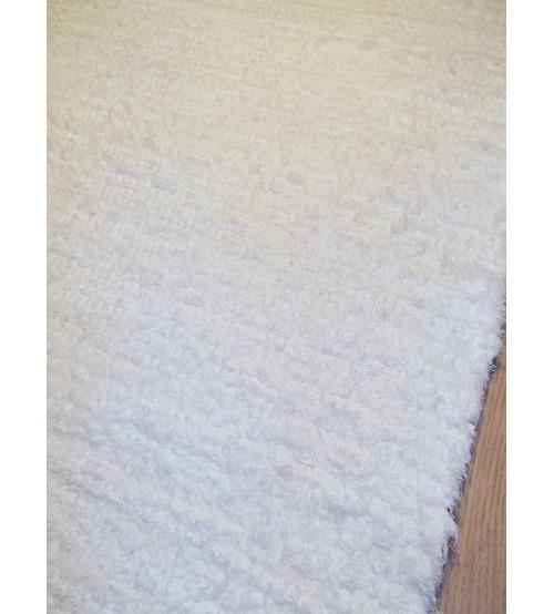 Bolyhos rongyszőnyeg fehér 70 x 200 cm
