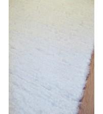 Bolyhos rongyszőnyeg fehér 55 x 150 cm