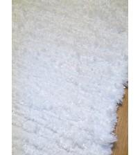 Bolyhos rongyszőnyeg fehér 165 x 200 cm