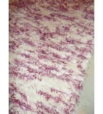 Bolyhos rongyszőnyeg nyers, rózsaszín 70 x 150 cm