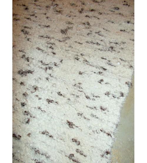 Bolyhos rongyszőnyeg nyers, barna 70 x 150 cm