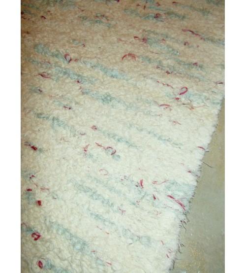 Bolyhos rongyszőnyeg nyers, kék, piros 70 x 150 cm