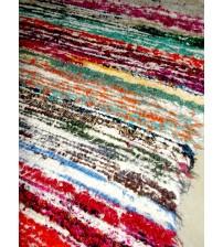 Bolyhos rongyszőnyeg színes 75 x 200 cm