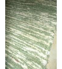 Bolyhos rongyszőnyeg zöld, nyers 75 x 90 cm