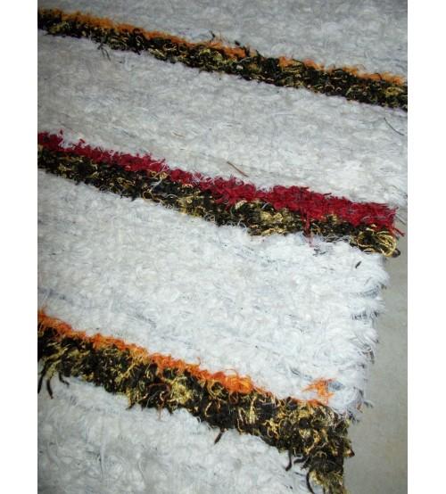 Bolyhos rongyszőnyeg nyers, barna 55 x 100 cm