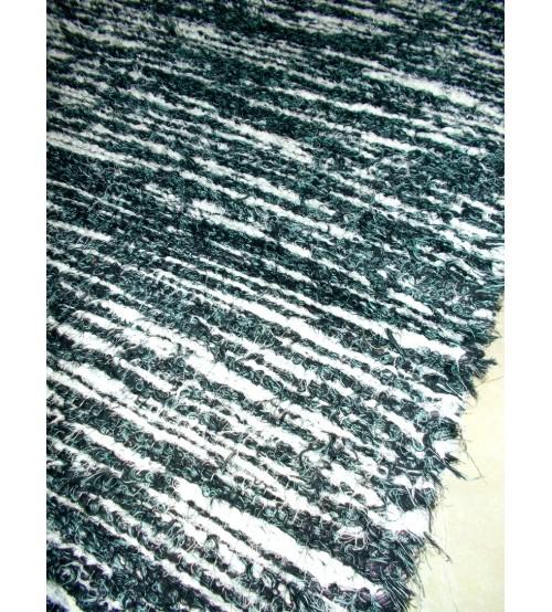 Bolyhos rongyszőnyeg zöld, fehér 70 x 200 cm