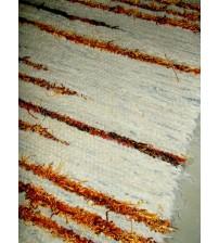 Bolyhos rongyszőnyeg nyers, sárga 75 x 150 cm