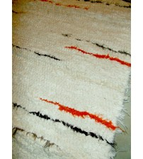 Bolyhos rongyszőnyeg nyers, barna 75 x 100 cm