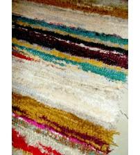 Bolyhos rongyszőnyeg színes 70 x 100 cm