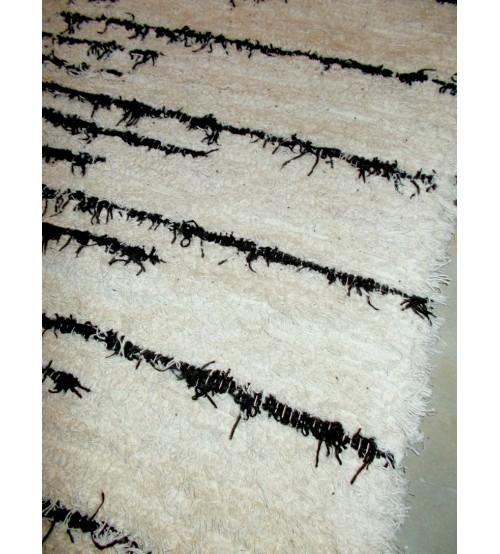 Bolyhos rongyszőnyeg nyers, barna 90 x 155 cm