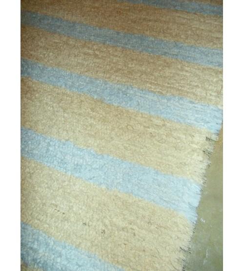 Bolyhos rongyszőnyeg nyers, kék 55 x 110 cm