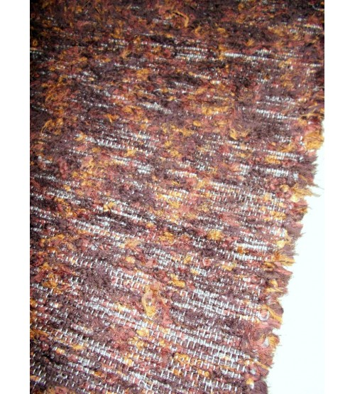 Bolyhos rongyszőnyeg barna, sárga 70 x 90 cm