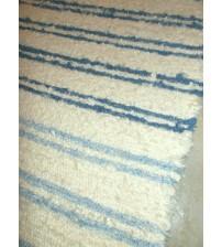 Bolyhos rongyszőnyeg nyers, kék 55 x 215 cm