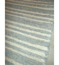 Bolyhos rongyszőnyeg szürke, nyers 55 x 140 cm